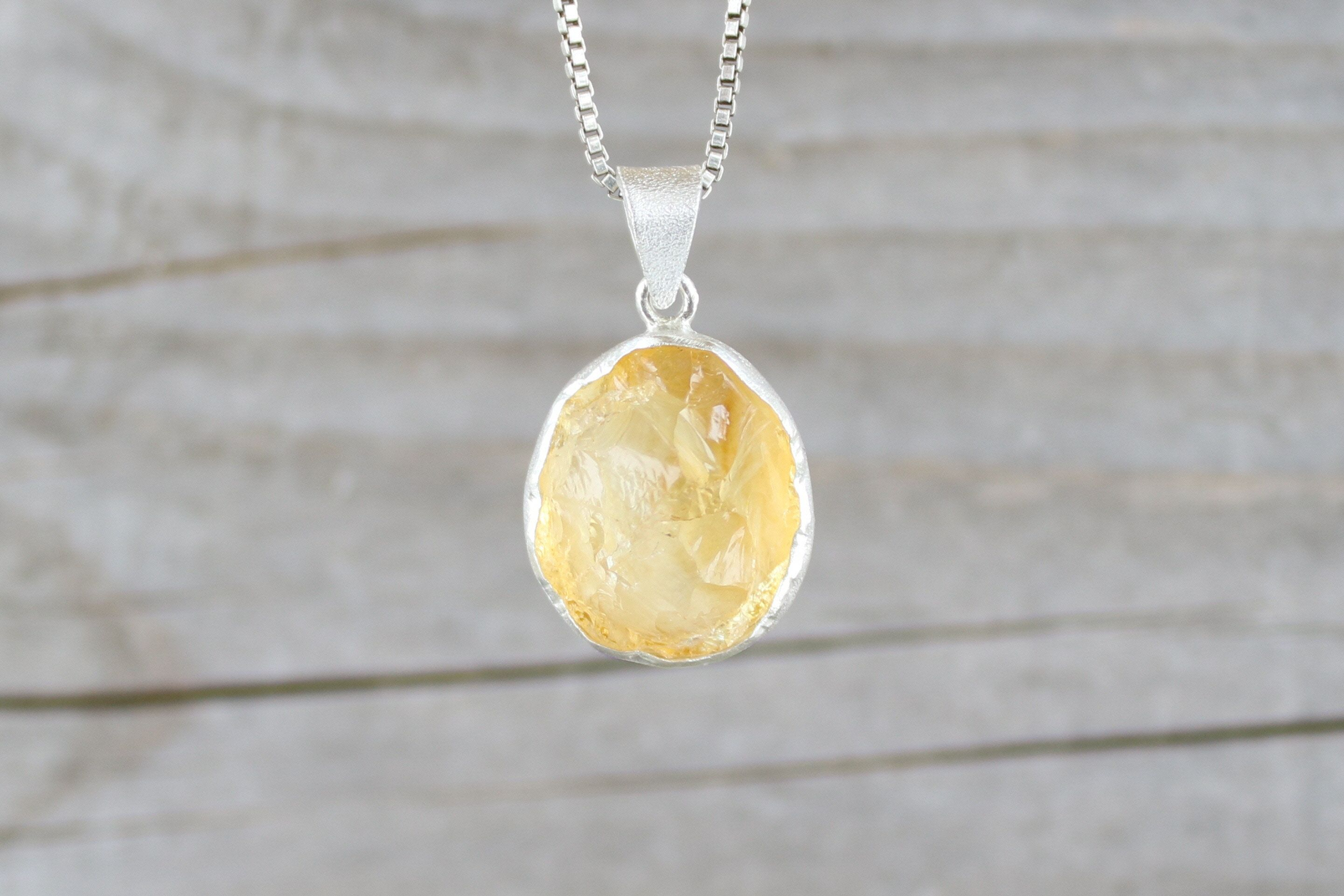collier citrine homme