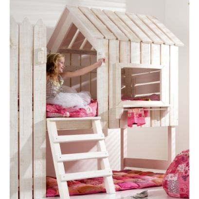 Muebles europe baby casita cama de madera mamidecora for Cama de casita