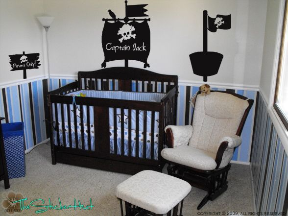 ppirate baby room Pirate SHIP Room Kit Wall Art Decor