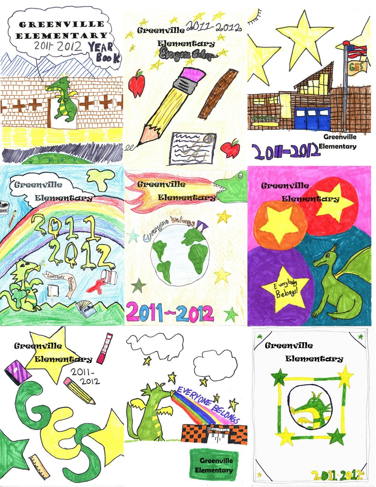 Yearbook Cover Ideas Elementary School They All Did A Great Job I