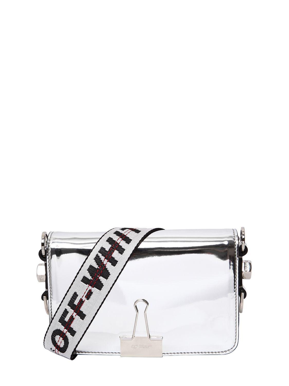 5207d73003fbe6 OFF-WHITE MINI BINDER CLIP MIRROR LEATHER BAG. #off-white #bags #shoulder  bags #leather #