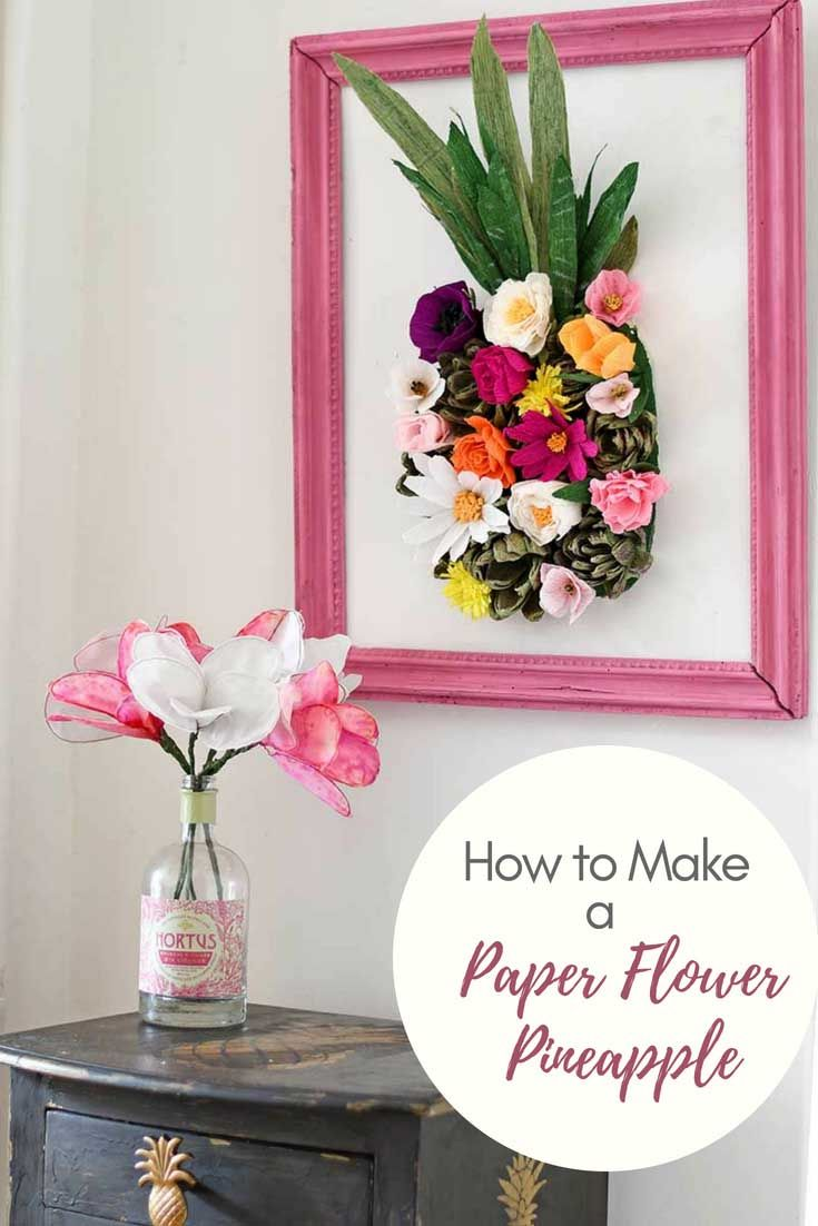 How To Make A Paper Flower Wall Decoration Craft Paper Flowers