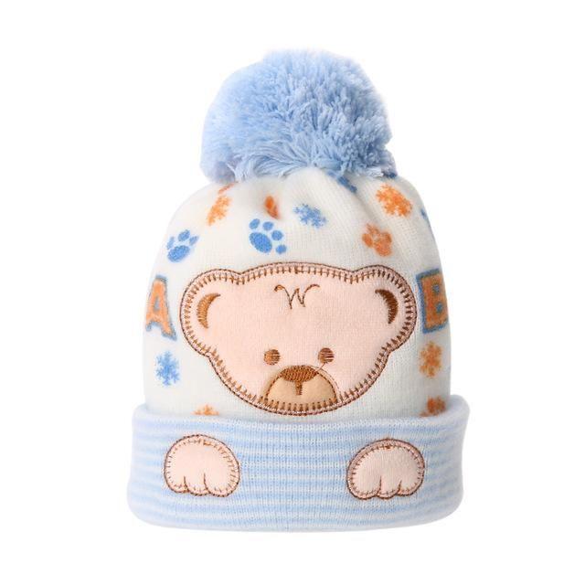 a58c3c4c5c80 Baby Caps Winter Baby Cap Hat Cartoon Bear Soft Bonnet Hats for Boys ...