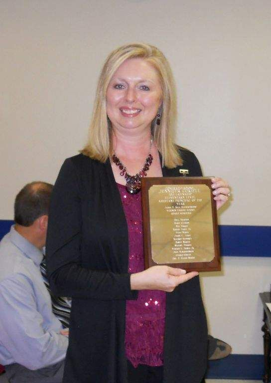 Jennifer Coriell, assistant principal at North Polk Elementary, was presented with an award at the Vernon Parish School Board meeting on Oct. 8. She was named the 2013 Louisiana Elementary Level Assistant Principal of the Year.
