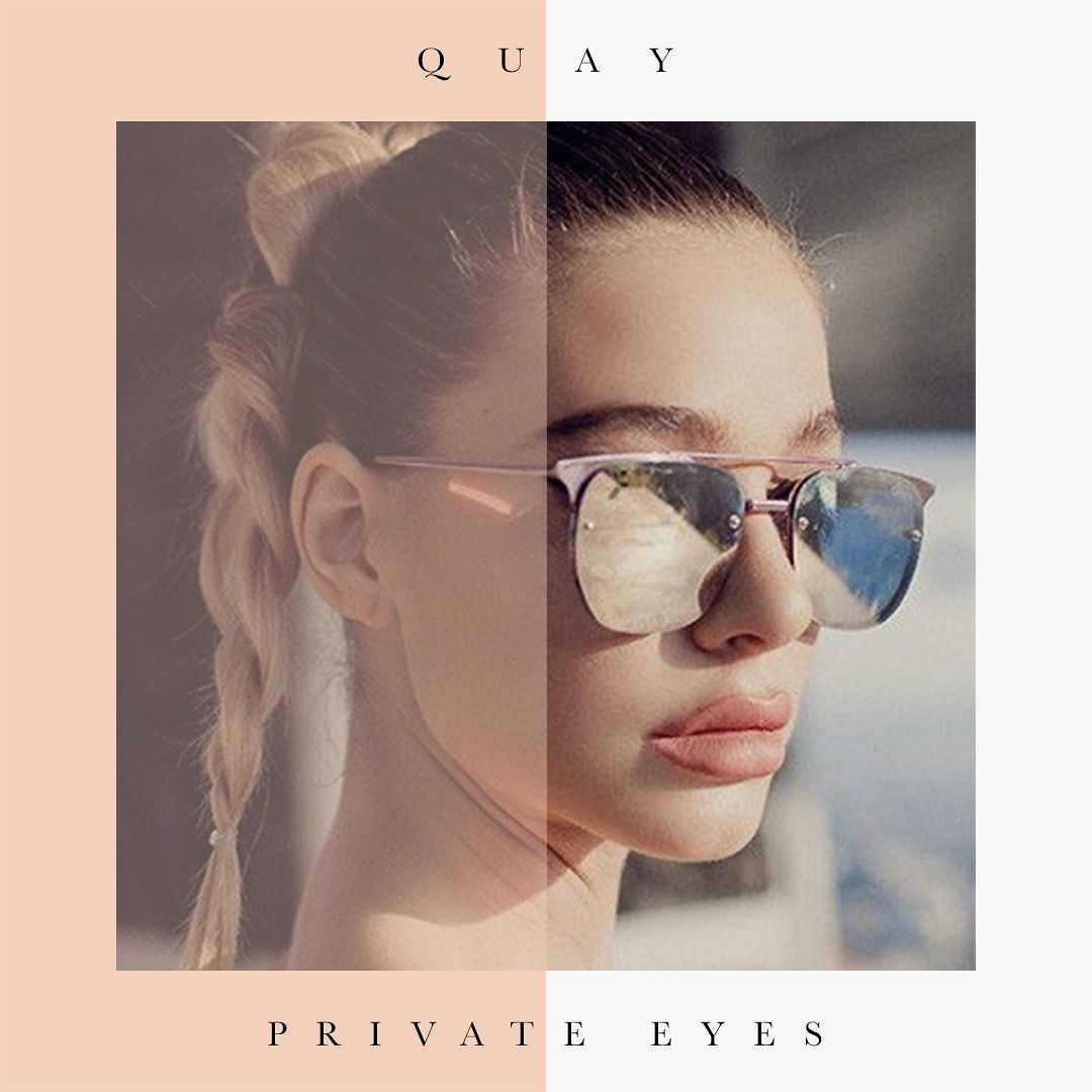 1e0c3512a How stunning are these QUAY AUSTRALIA Pink Rose PRIVATE EYES Sunglasses?  Prepare yourself for summer