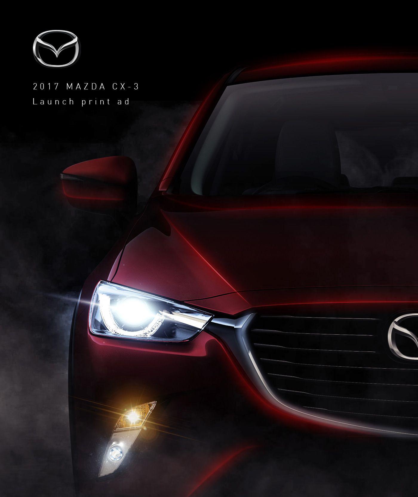 2017 Mazda CX3 Launch Print ads on Behance 汽车, 自動車, 広告