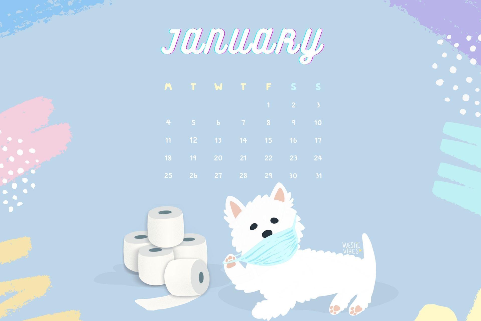 January 2021 Hd Calendar Wallpaper Featuring Cute Puppy Calendar Wallpaper Free Printable Calendar Templates 2021 Calendar