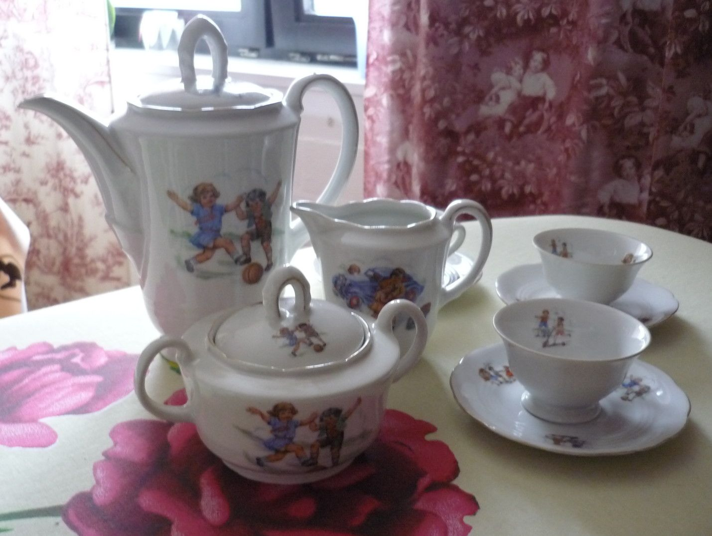 Kinder puppen service kaffee teeservice pinterest for Geschirr set vintage