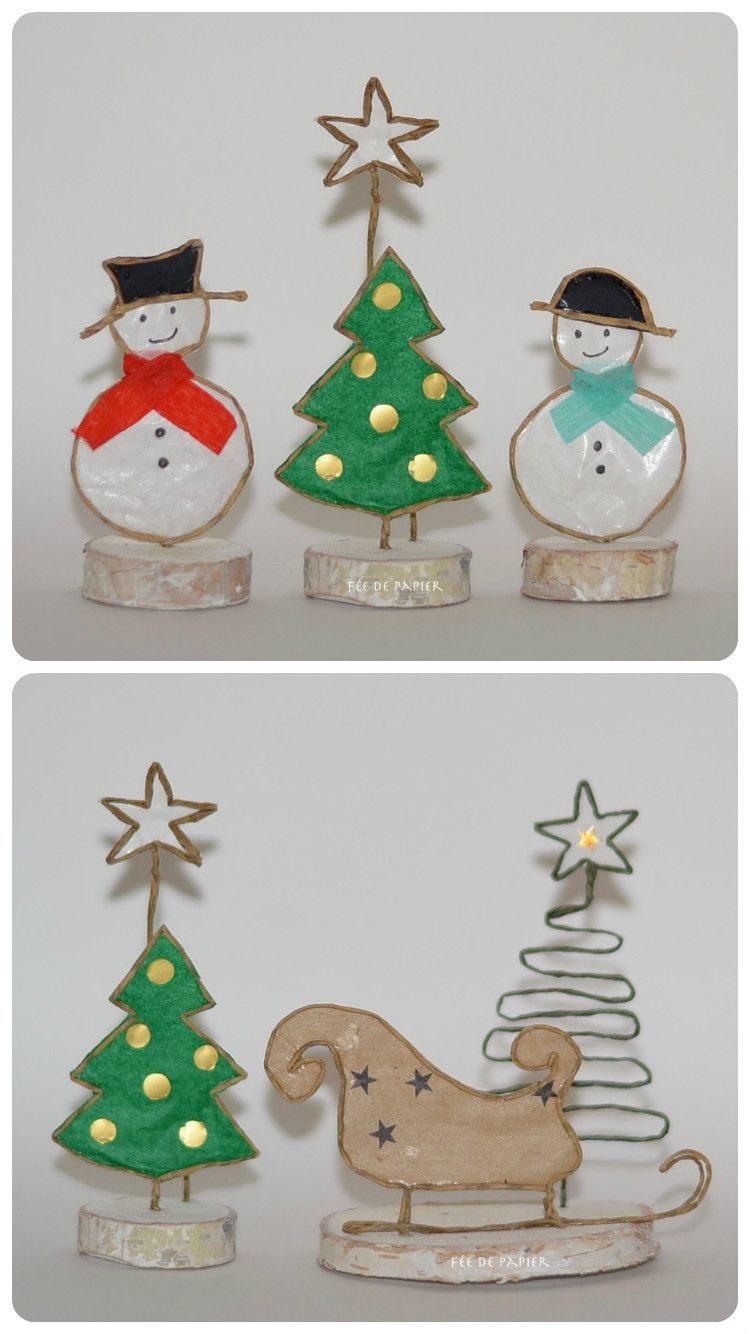 No l wire and paper christmas tree crafts christmas tree decorations et wire ornaments - Bricolage maternelle ...