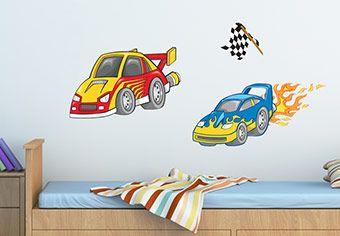 Dragster Race Car Wall Decal Nursery Room Decor ҡıԁs ɾσσмѕ - Wall decals carsracing car wall decal ideas for the kids pinterest wall