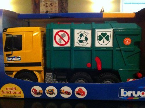 Mb Actros Bruder Recycling Truck Toy Trucks Toy Trucks Toys For Boys