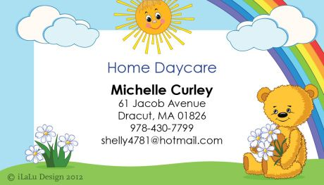 Daycare Business Card Google Search Kids Stationery