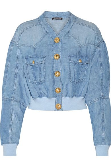 c02581a7378 Sky-blue chambray Snap fastenings through front 54% Lyocell
