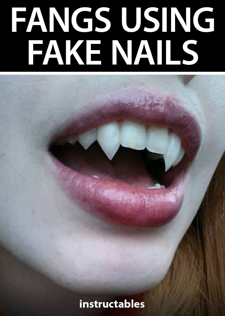 Fangs DIY Using Fake Nails #gorgeousgowns