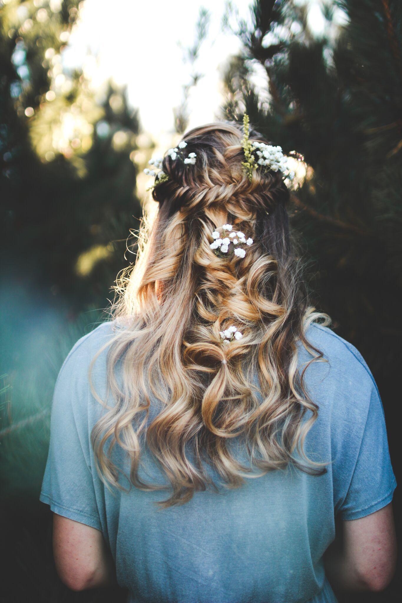 half up boho hair | Boho wedding hair, Hair beauty, Boho ...