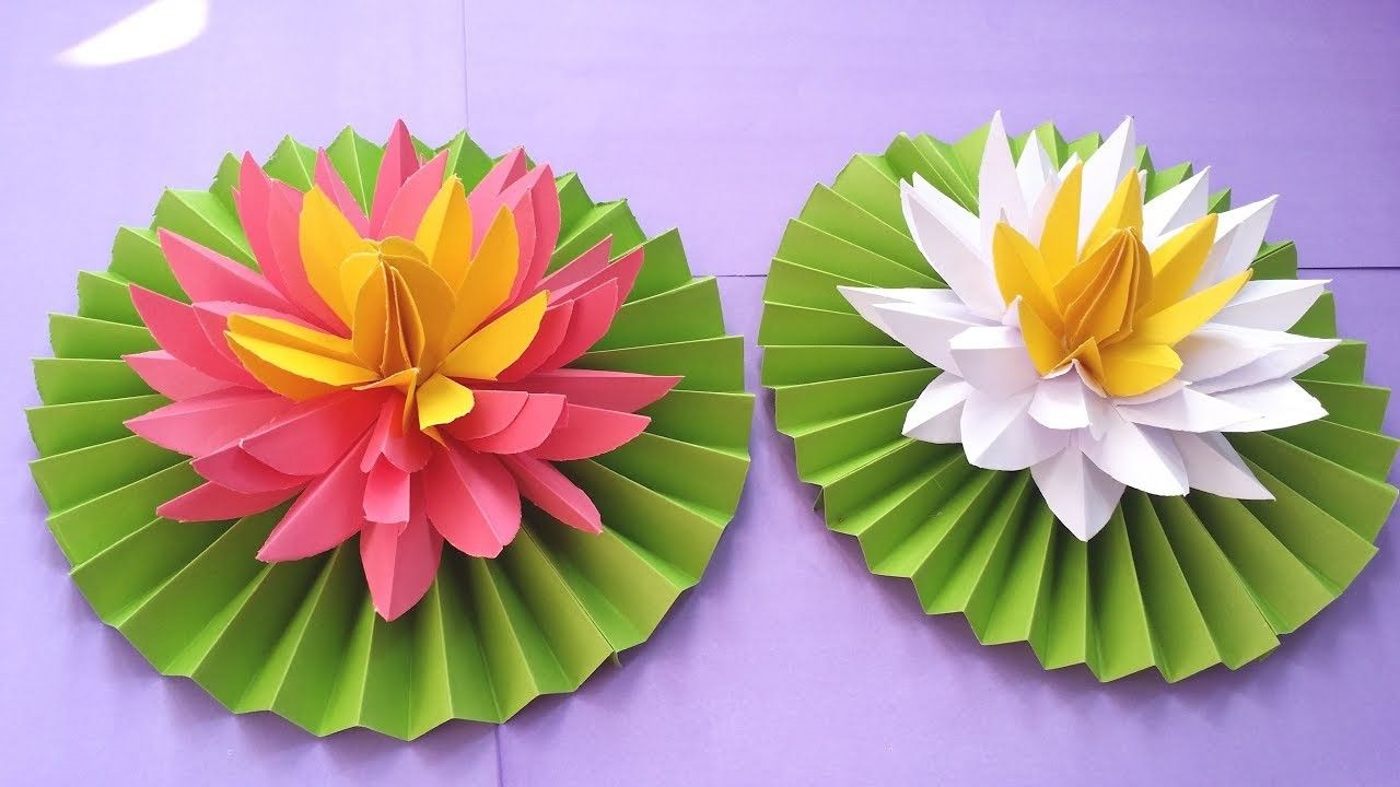 Diy How To Make Most Beautiful Lotus Water Lily With Paper