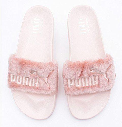 Women's Rihanna Leadcat Fur Slide Leadcat Fenty Sandals - Pink... The Fur  Slide