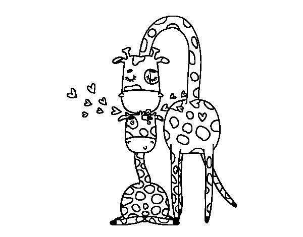 Dibujo de Mam jirafa para Colorear  ideas  Pinterest  Jirafa