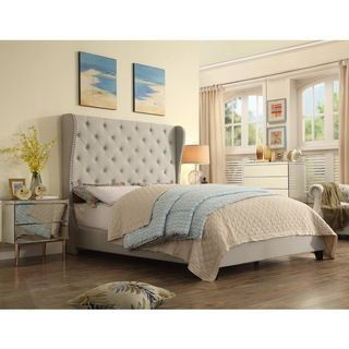Shop for Moser Bay Queen Size Wingback Upholstered Bed Set. Get free ...