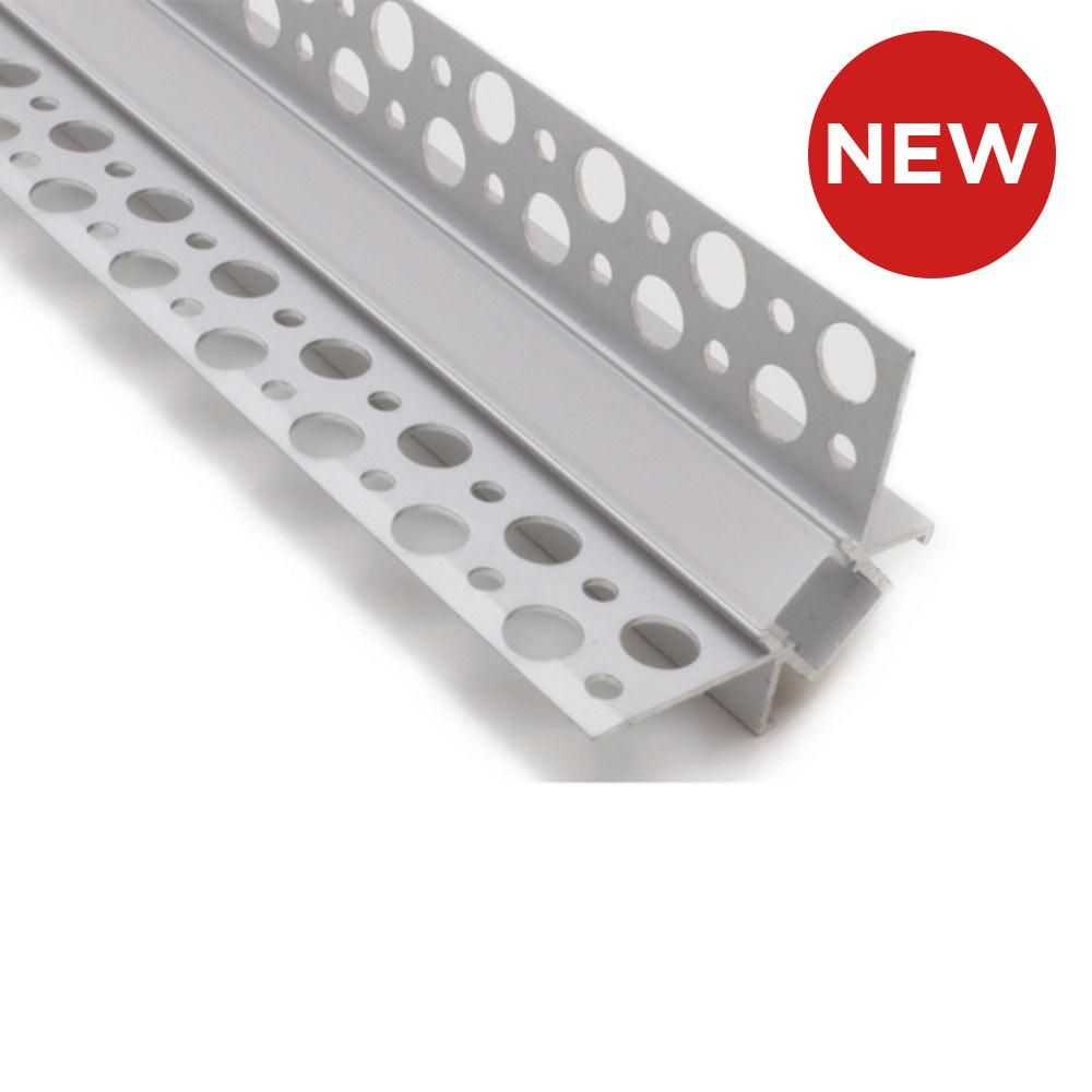 Internal Corner Recessed Plaster In Aluminium Profile Channel For Led Strip 2 5m Led Led Strip Recess