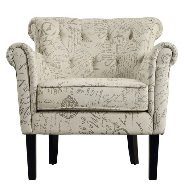 Asher Upholstered Button-tufted Rolled Arm Club Chair - Overstock ...