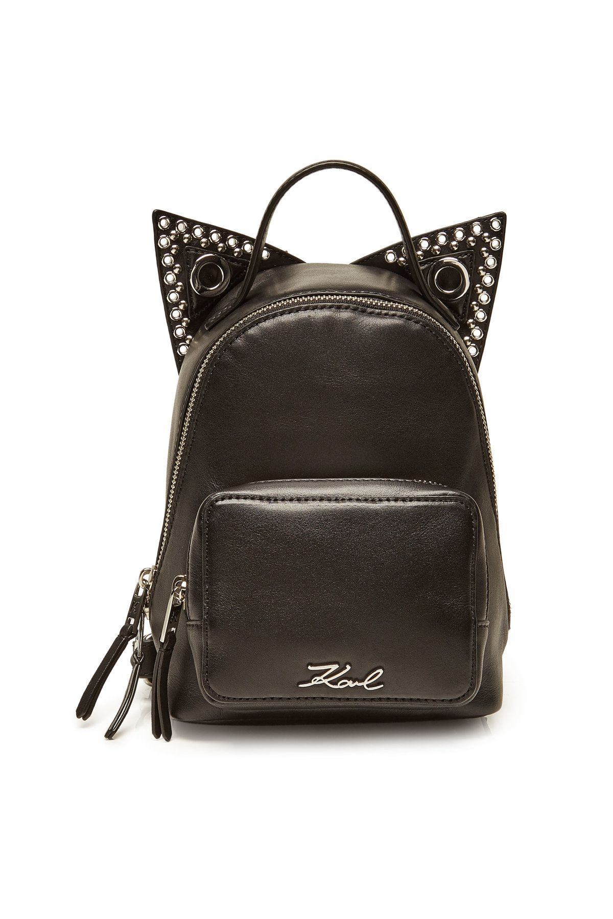 57afc09ff30 Karl Lagerfeld - K/Rocky Choupette Mini Leather Backpack on STYLEBOP.com