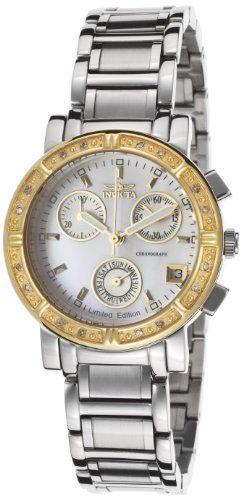 Invicta Women's ILE4718ASYB Wildflower Analog Display Swiss Quartz Silver Watch