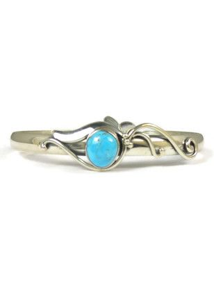 Silver Kingman Turquoise Bracelet by Les Baker Jewelry - Turquoise Jewelry from Southwest Silver Gallery.com
