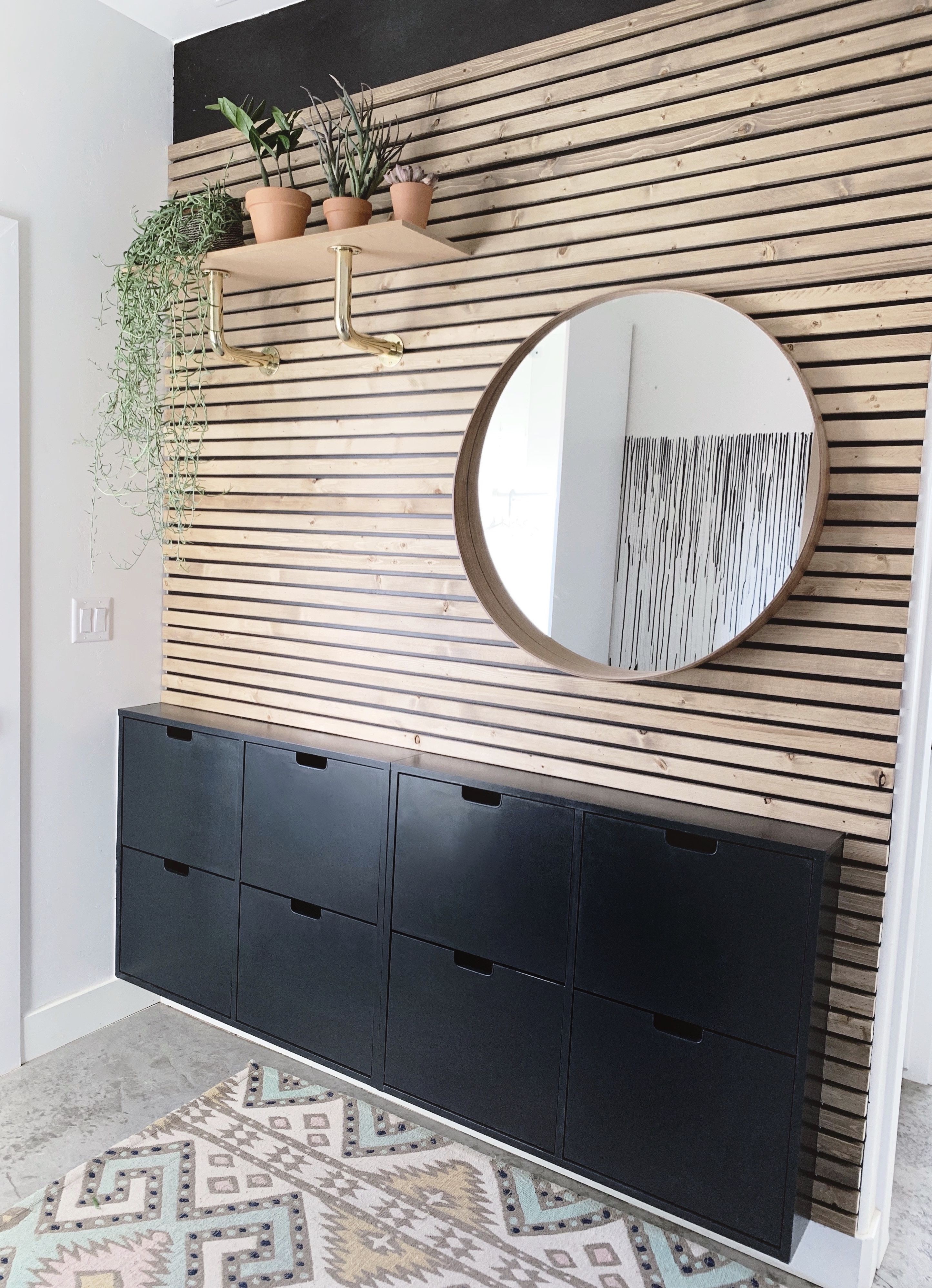 Wood Slat Wall In 2020 Wood Slat Wall Slat Wall Accent Wall Entryway