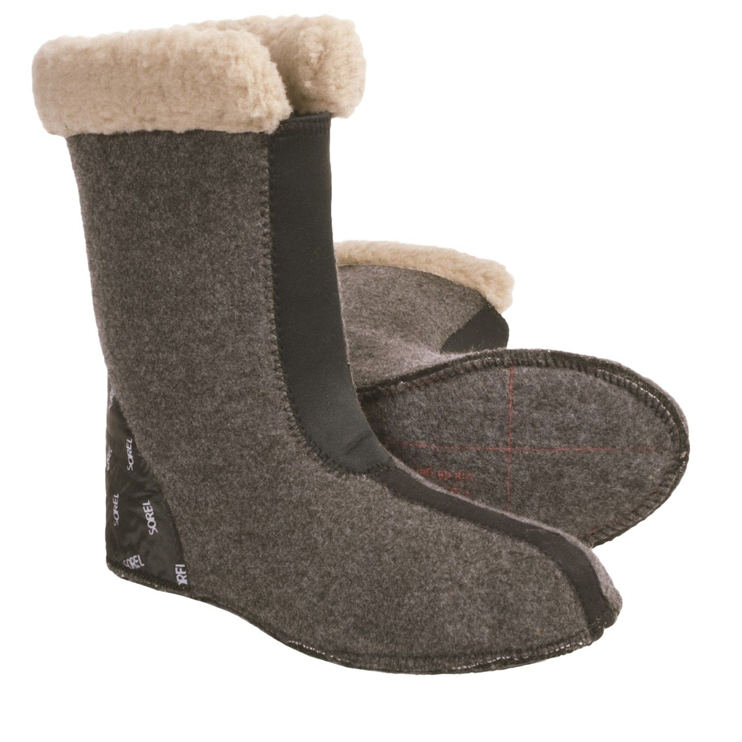 Sorel Boot Liners >> Sorel Caribou Thermoplus Boot Liners For Men Felted Feet