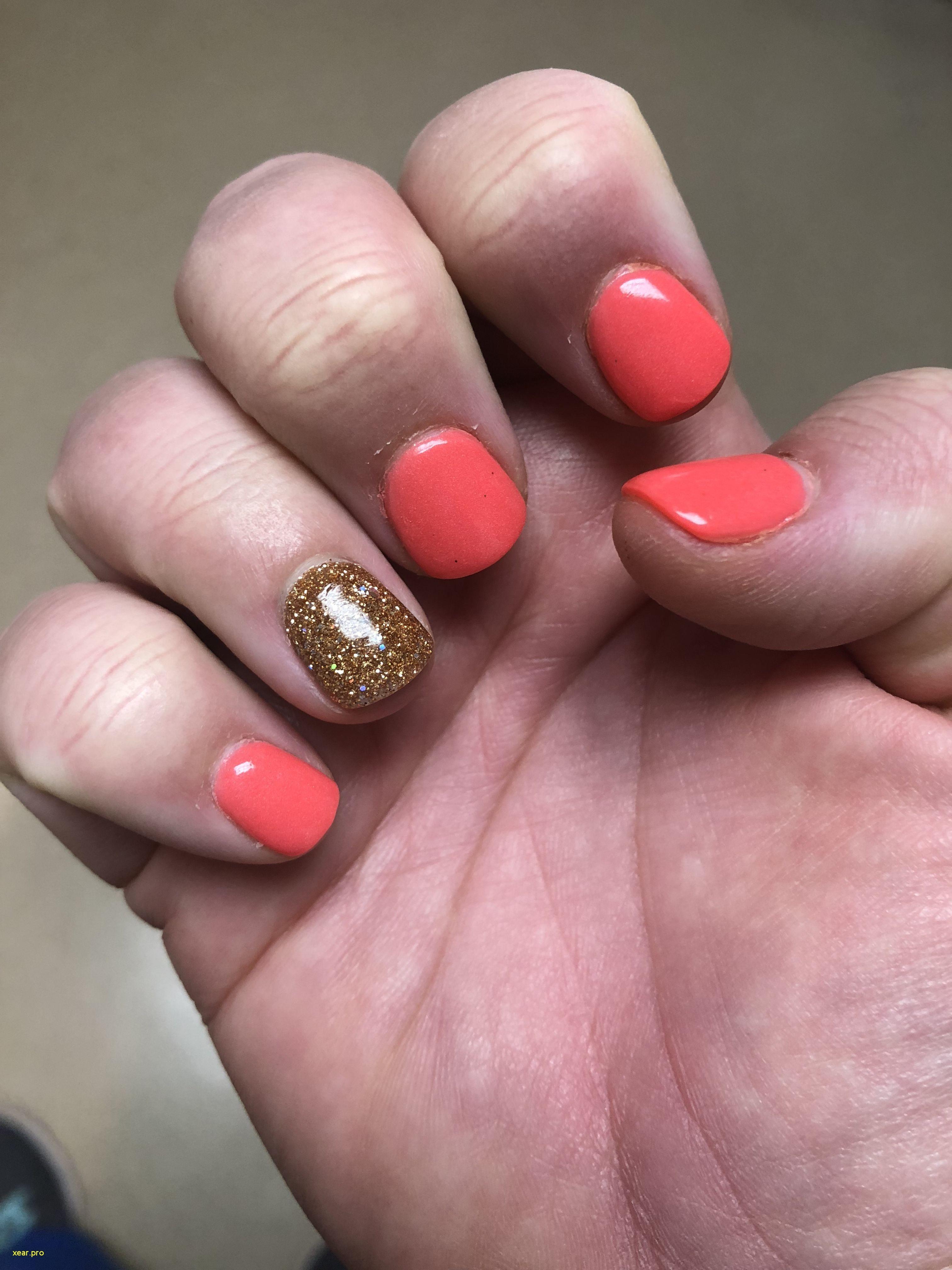 Inspirational Neon Coral Red Nail Polish Pink Gold Nails Color