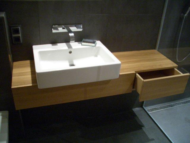Oak washing table desk Waschtisch aus Eiche mit weißem