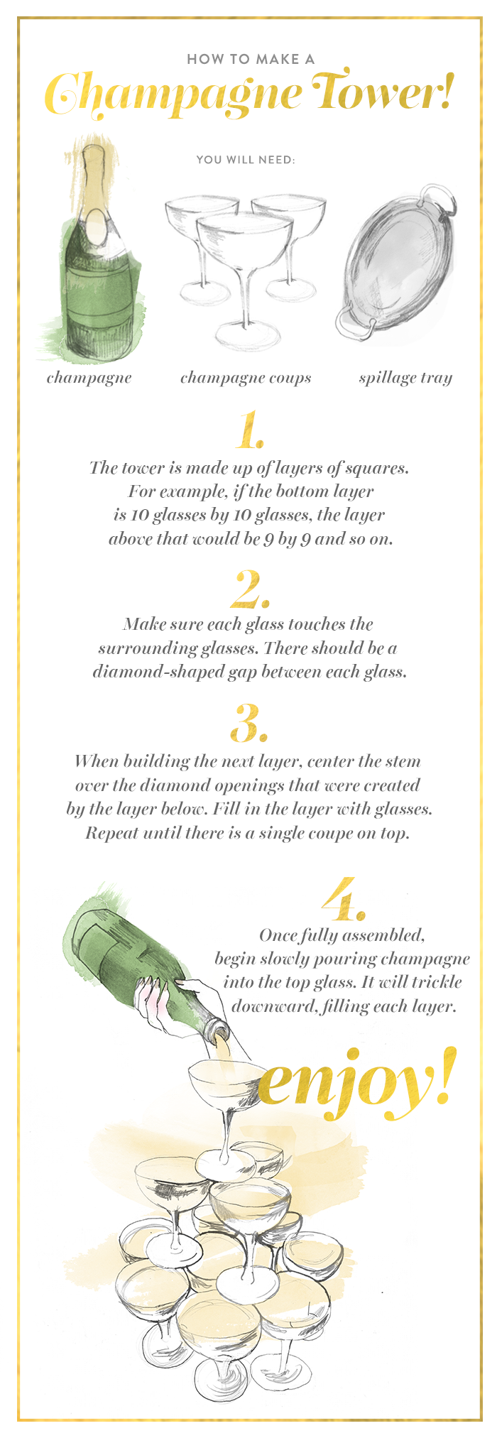 wow your guests in just 4 easy steps with a glammed out champagne tower this nye  [ 700 x 2025 Pixel ]