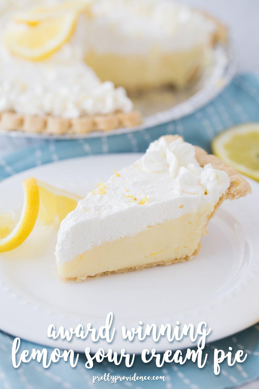Lemon Sour Cream Pie Recipe Cream Pie Lemon Sour Cream Pie Easy Desserts