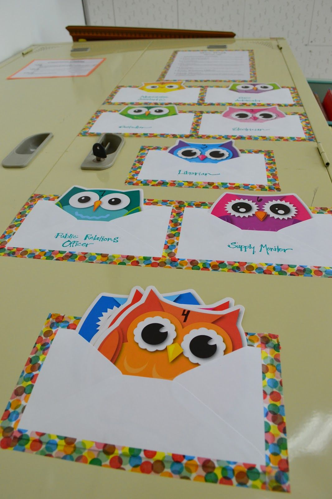 Diy Pocket Chart For Classroom Jobs Owls