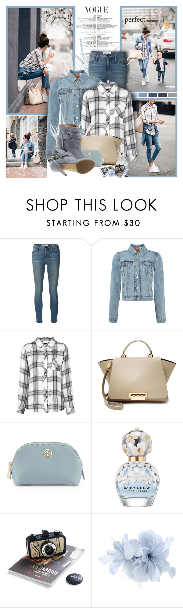 """""""Be good to yourself"""" by winala ❤ liked on Polyvore featuring Frame Denim, Trilogy, Levi's, Rails, ZAC Zac Posen, Tory Burch, Marc Jacobs and Maison Margiela"""