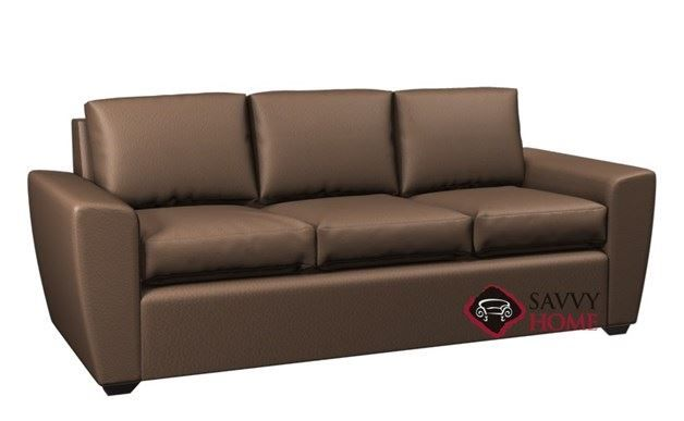 Geo 3-Cushion Leather Queen Earth Designs Sofa Bed by Lazar ...