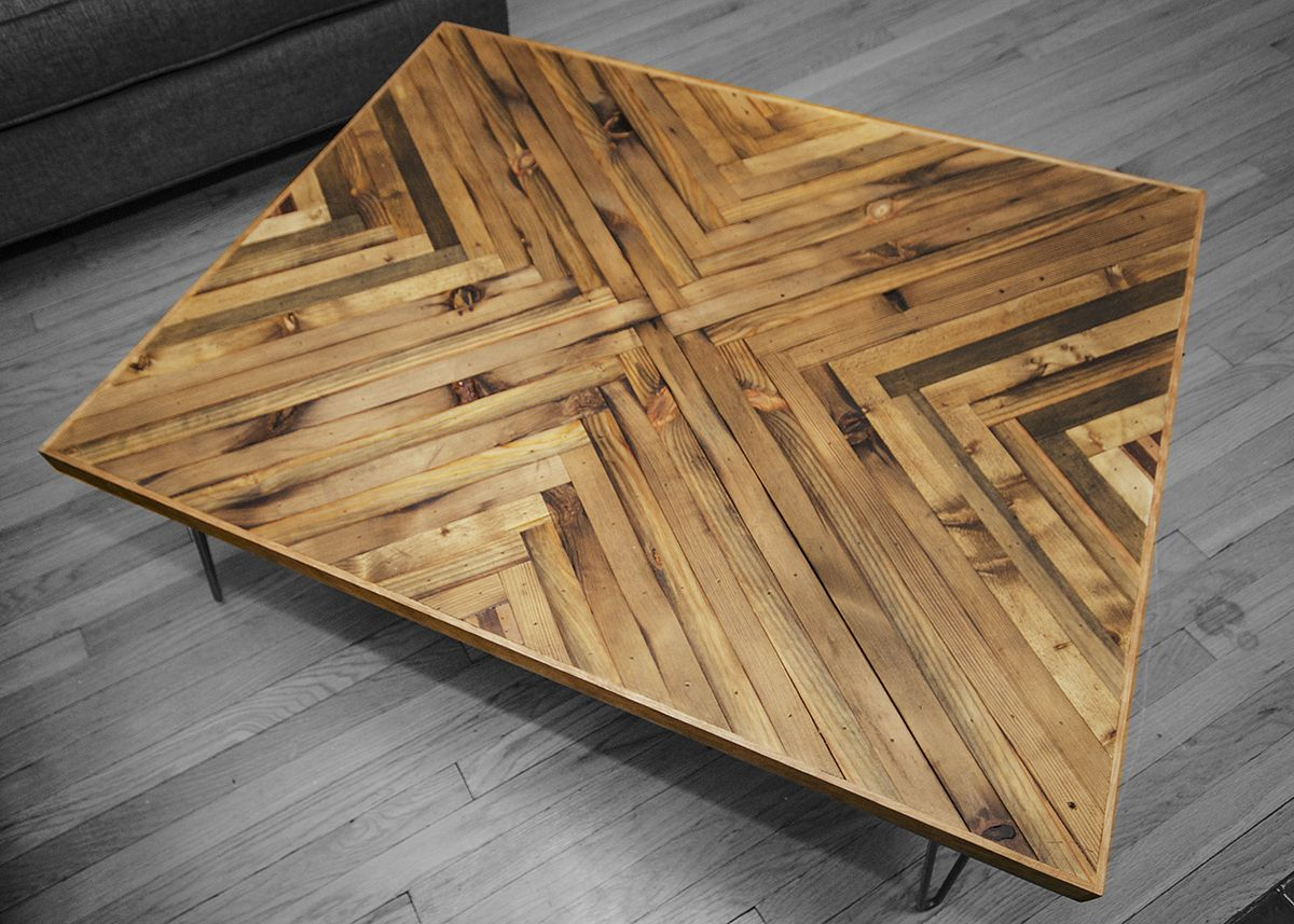 Delicieux Herringbone Coffee Table Top