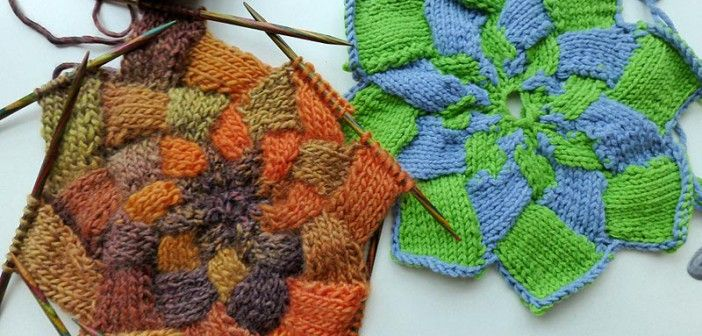 How to Knit * Entrelac Half Patches