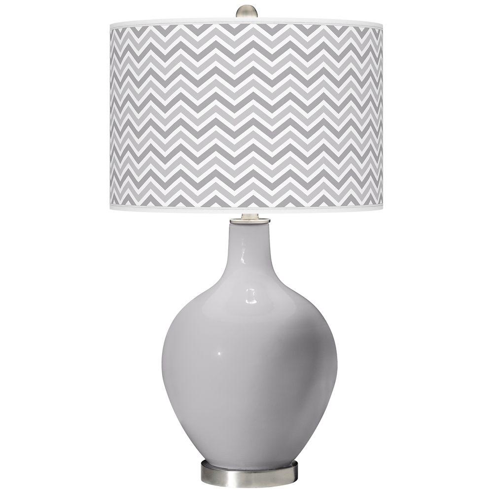 Swanky Gray Narrow Zig Zag Ovo Table Lamp Style X1360