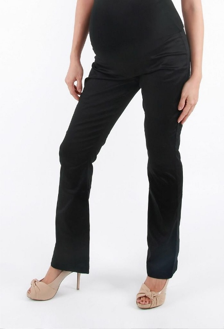 baba9240003af Wear the Annee Matthew black Straight Cut Maternity Trousers to the office  for nice business attire. These comfortable and stylish maternity dress  pants ...