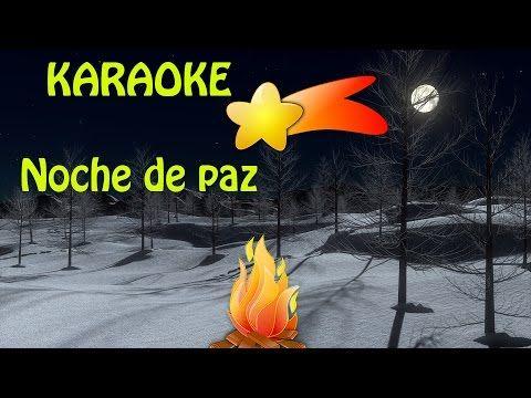 VILLANCICOS POPULARES✸Noche de Paz KARAOKE instrumental con letra✸Villan...