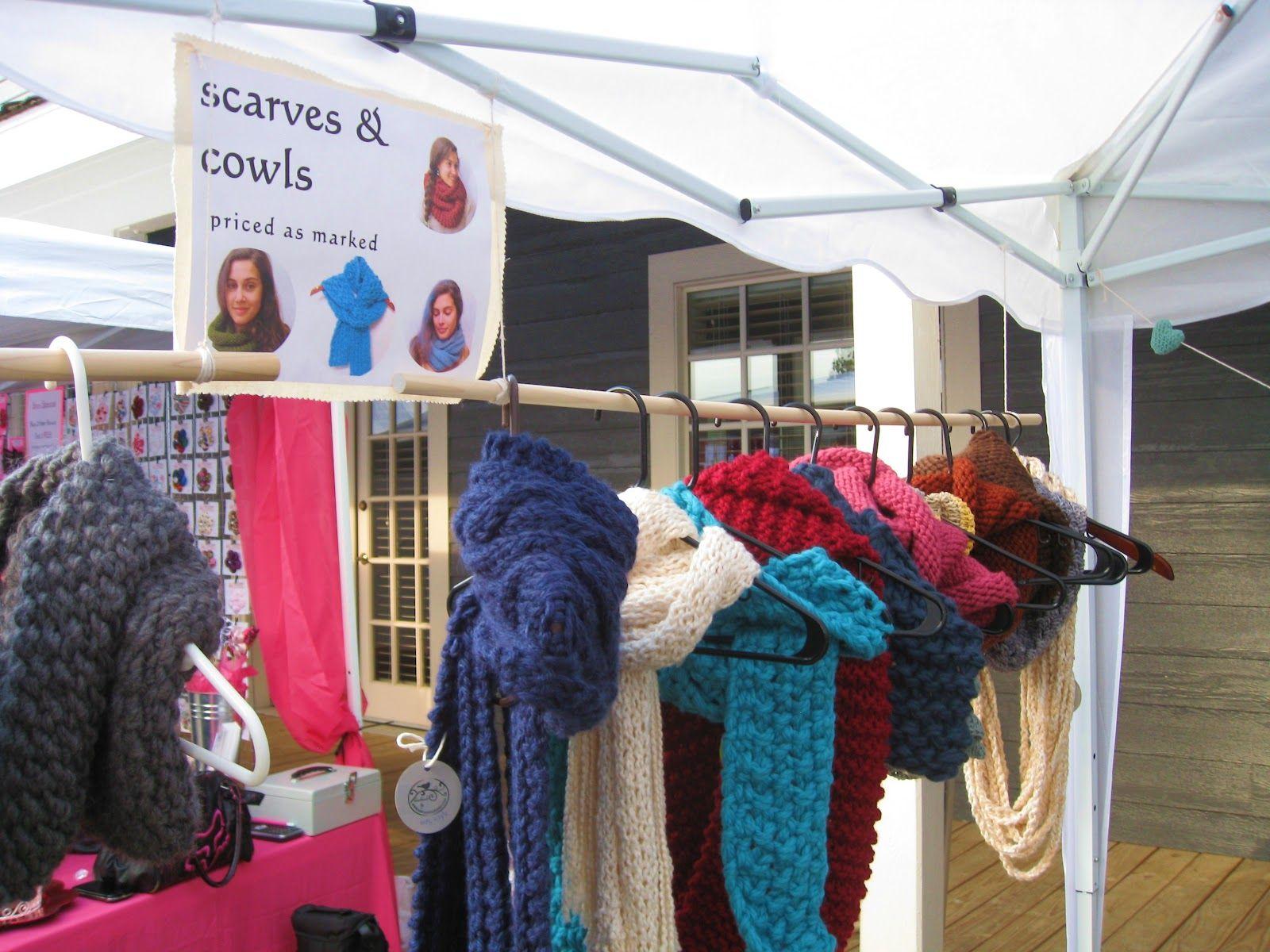 Megan E Sass Handknits Show Old Town Shawnee Craft Fair Fairs Displays Booth