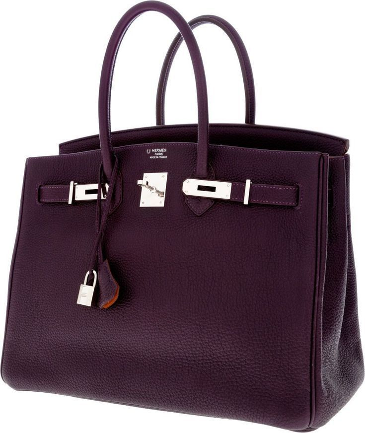 Photo of Luxury Accessories: Bags, Special Order Hermes Horseshoe 35cm Grape & Orange H ….