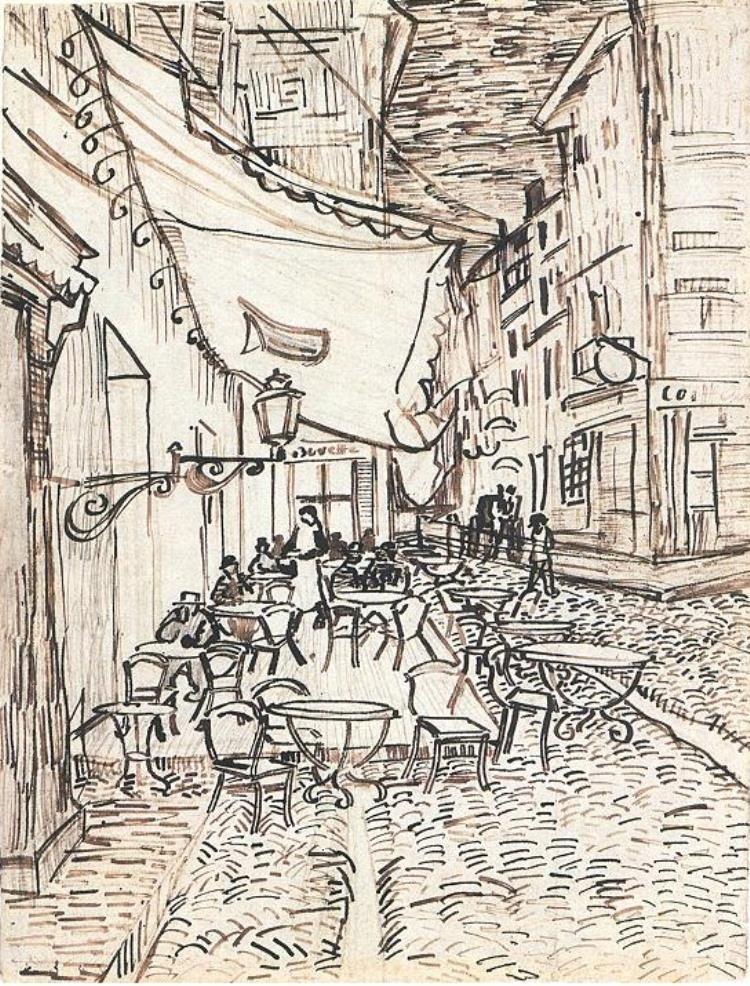 Vincent Van Gogh Terraza Del Café De La Place Du Forum En
