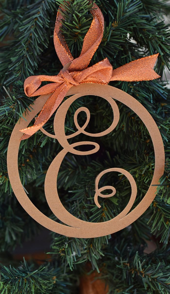 Letter Christmas Ornament Made With The Cricut Machine Ad How To Make Ornaments Cricut Ornaments Christmas Ornaments