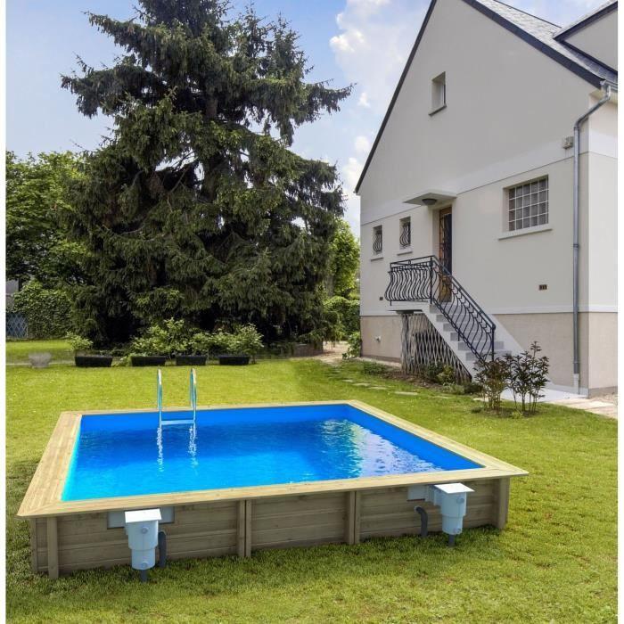 weva piscine bois rectangle 4,5x3 m hauteur 1,20 m - Achat   Vente