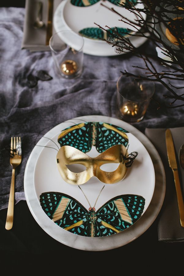 Halloween Tabletop The Butterfly Ball Ceramic Tableware Dinner Room Dinnerware