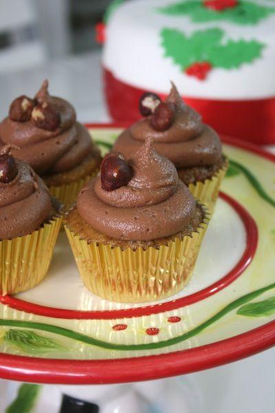 Cupcakes de avellanas con frosting de Nutella