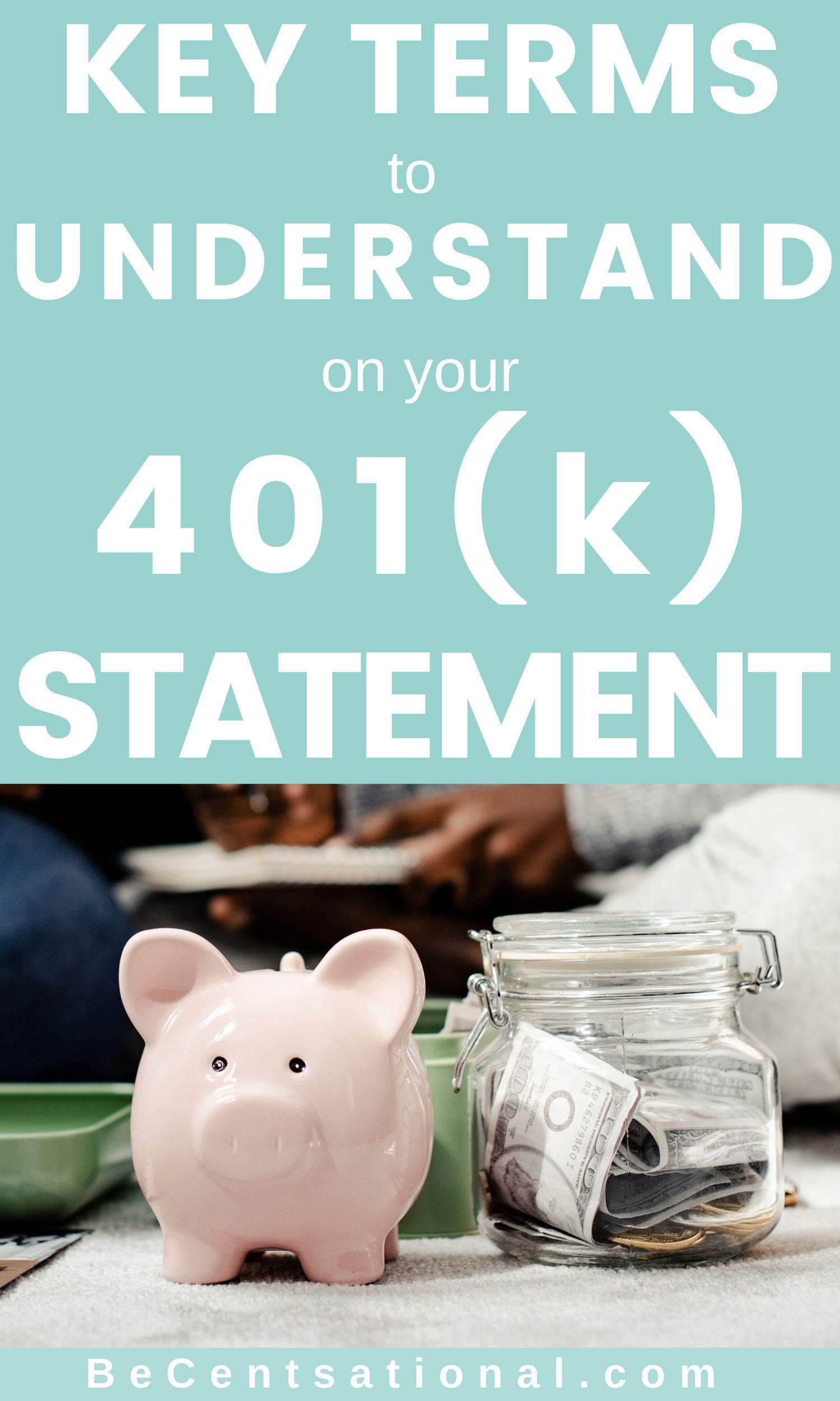 Understanding Your 401 K And Roth Ira Statement Money Management Activities Money Management Books Roth Ira